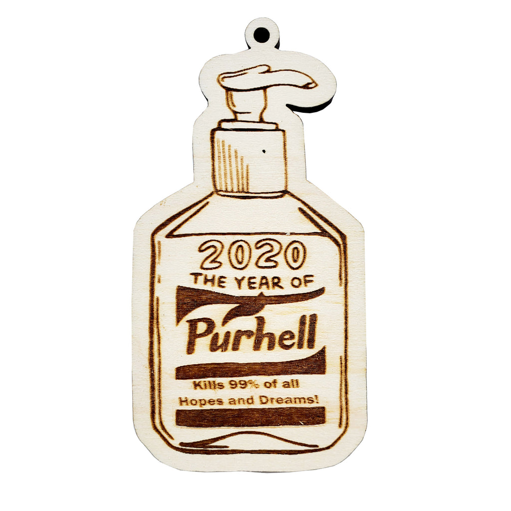 the salty lick mercantile 2020 the year of purhell wood holiday christmas tree ornament