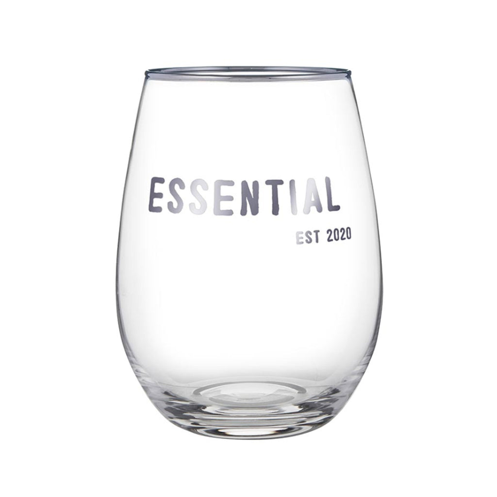 santa barbara design studio essential 2020 face to face clear stemless wine glass