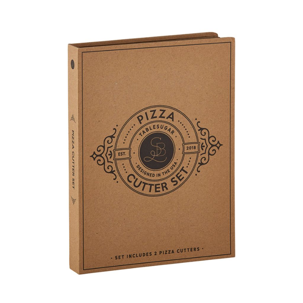 santa barbara design studio pizza cutter set in packaging
