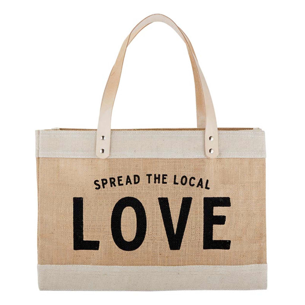 santa barbara design studio spread the local love jute tote bag