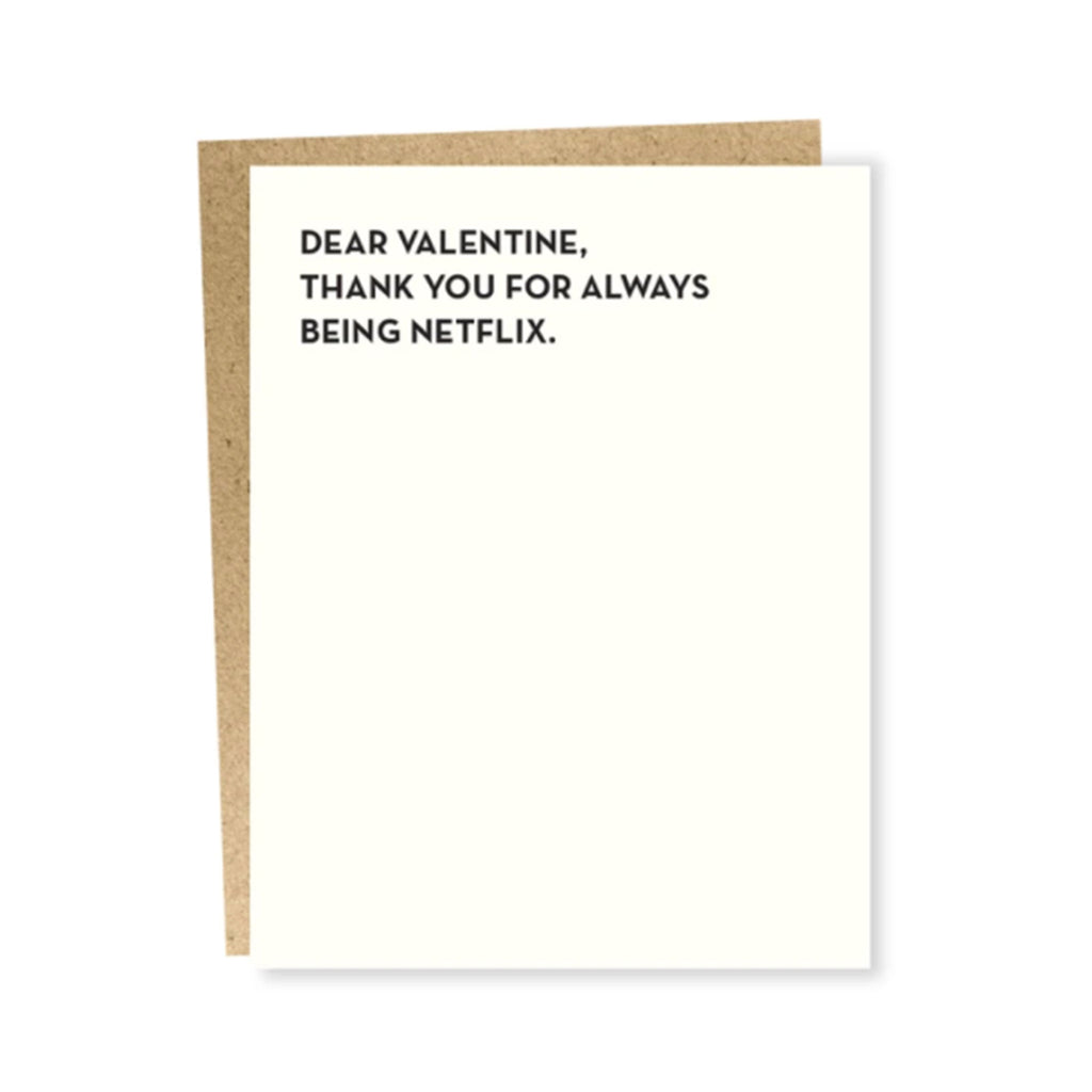 sapling press netflix valentine's day greeting card