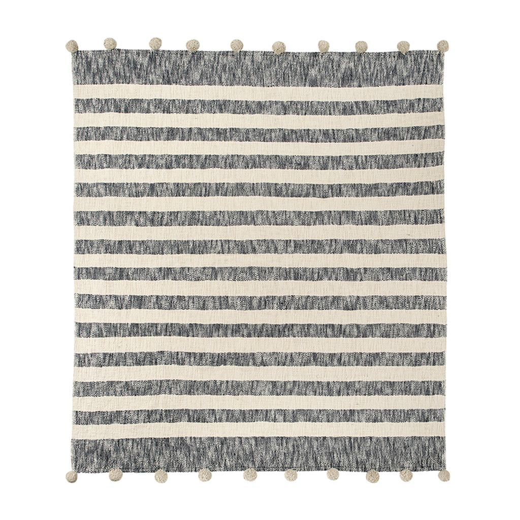 sb design pom throw navy