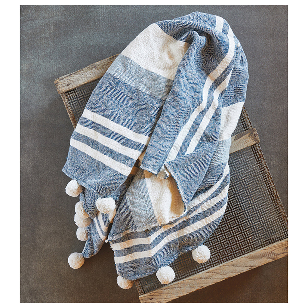 sb design pom throw stripe