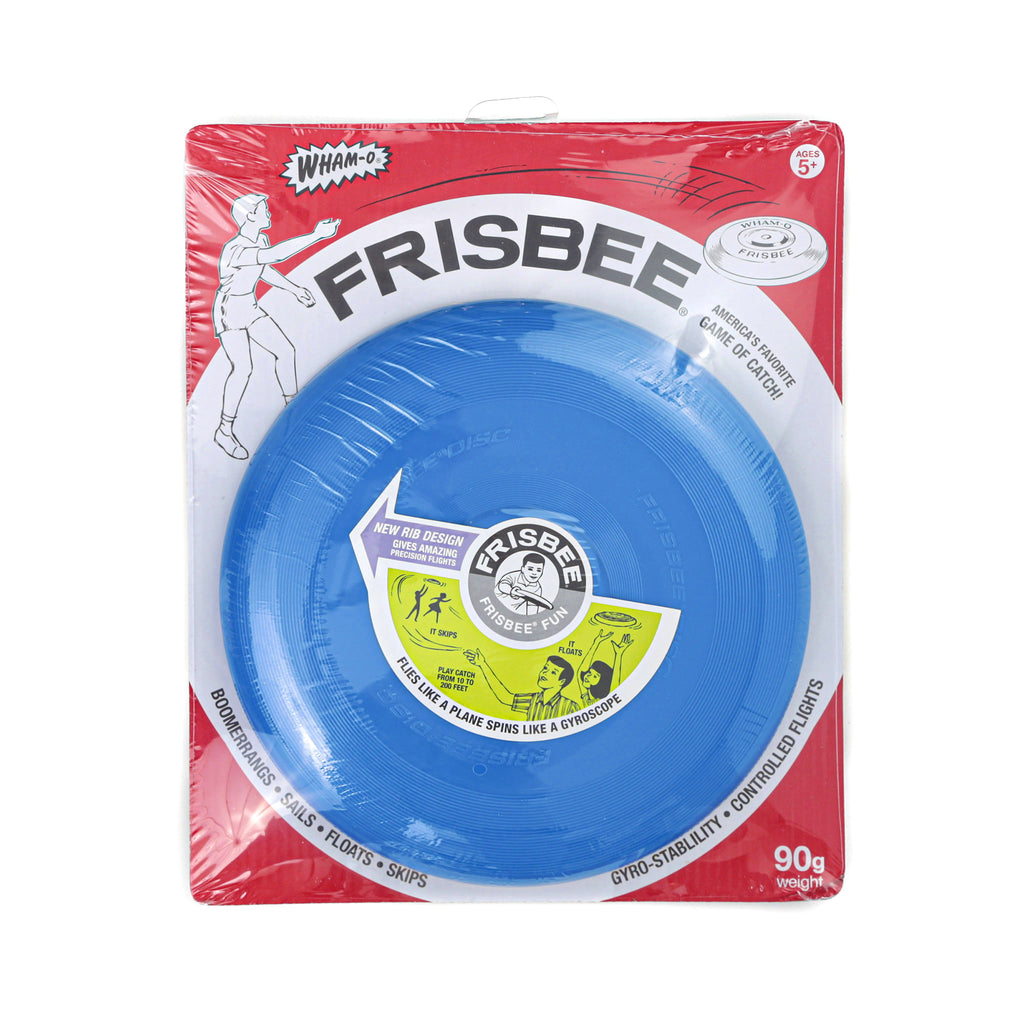 schylling blue vintage wham-o frisbee plastic flying disc in packaging