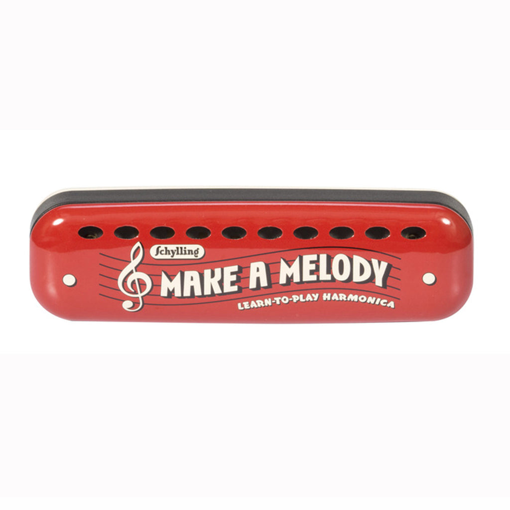 schylling make a melody learn to play harmonica in red tin case musical instrument