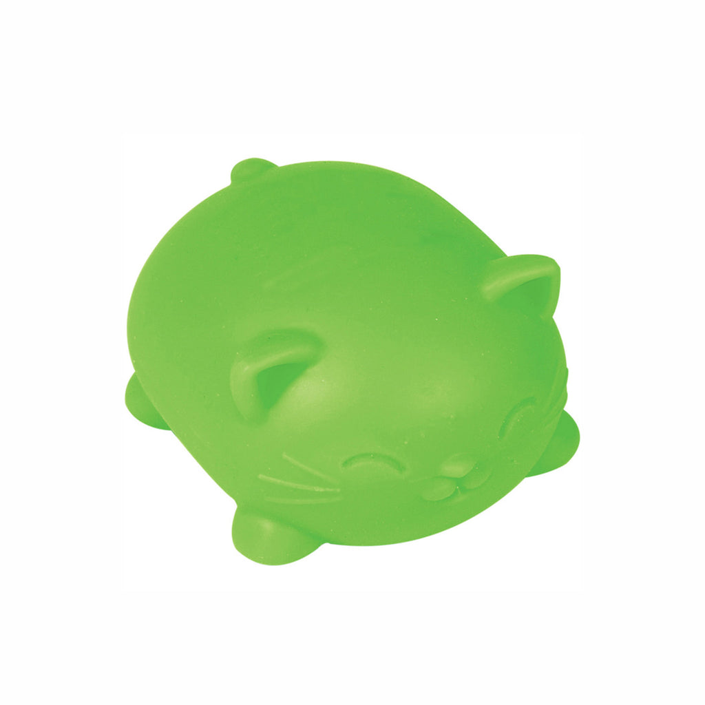 schylling nee doh cool cats stress relieving cat in neon green