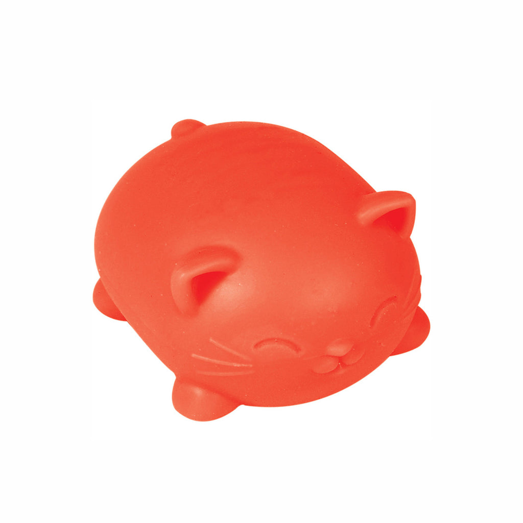 schylling nee doh cool cats stress relieving cat in neon orange