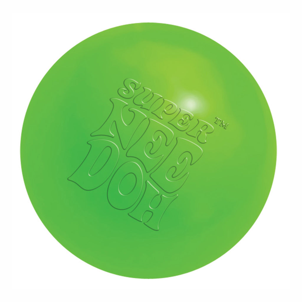 schylling super nee doh stress relieving ball neon green