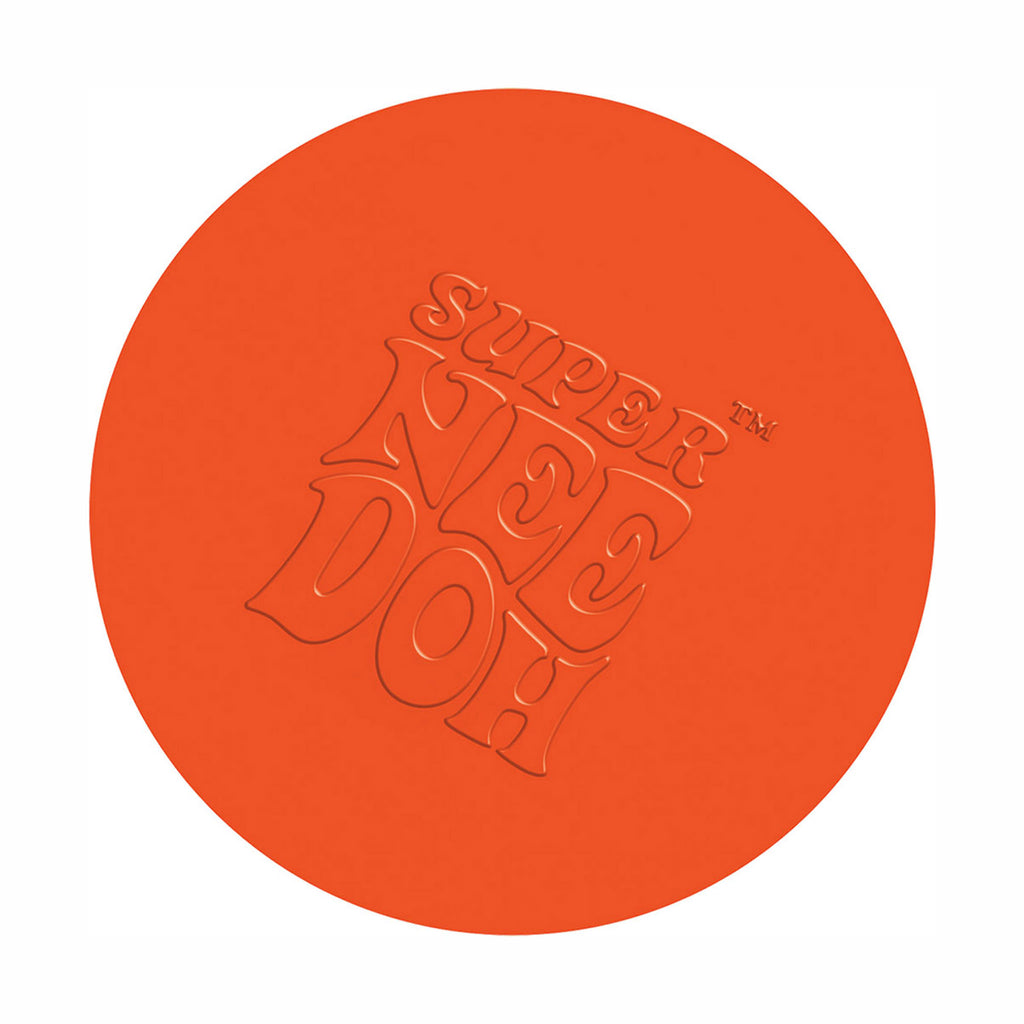 schylling super nee doh stress relieving ball neon orange