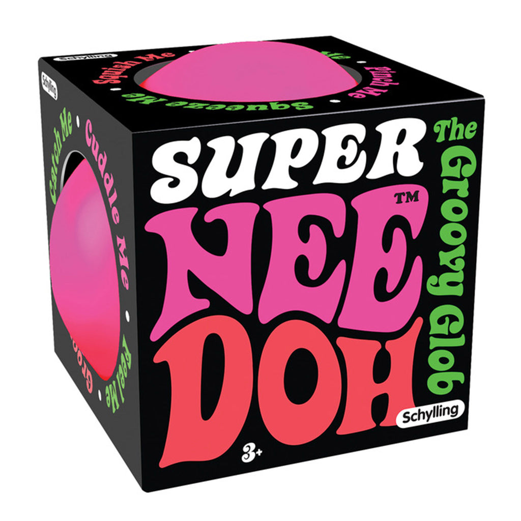 schylling super nee doh stress relieving ball neon pink in packaging
