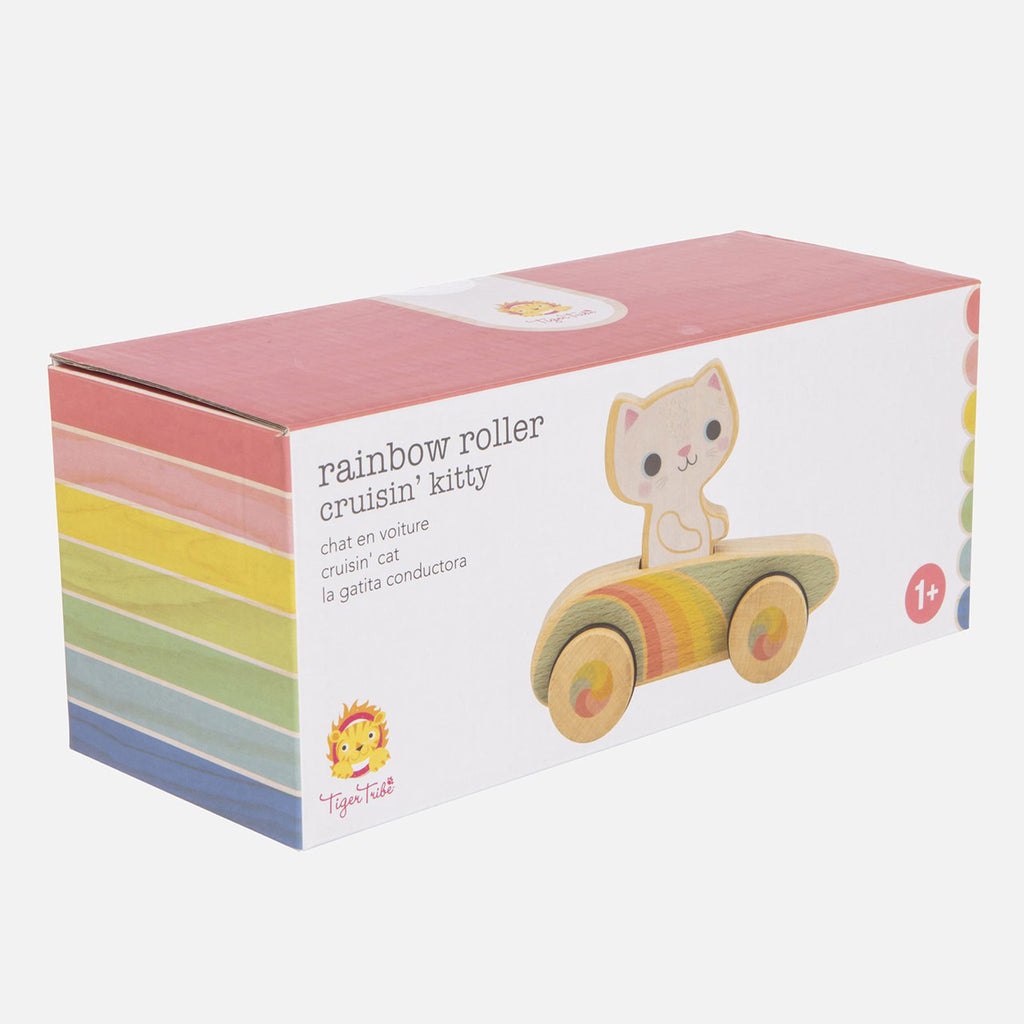 schylling tiger tribe cruisin kitty rainbow roller racer packaging