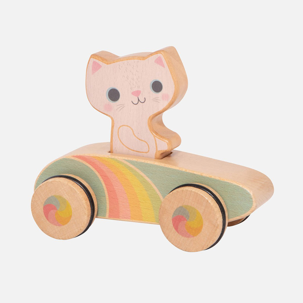 schylling tiger tribe cruisin kitty rainbow roller racer