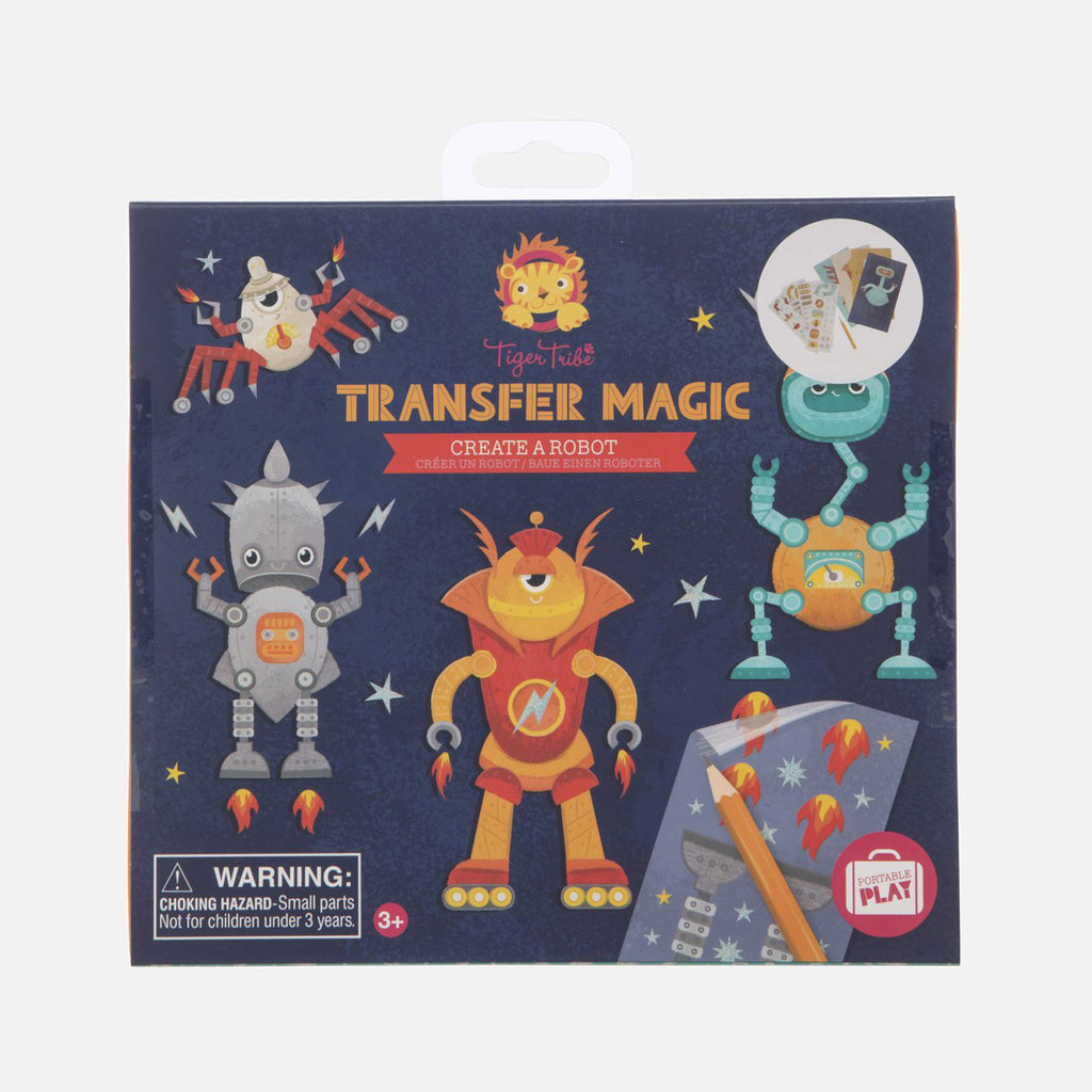 schylling tiger tribe transfer magic create a robot set kids diy craft kit box front