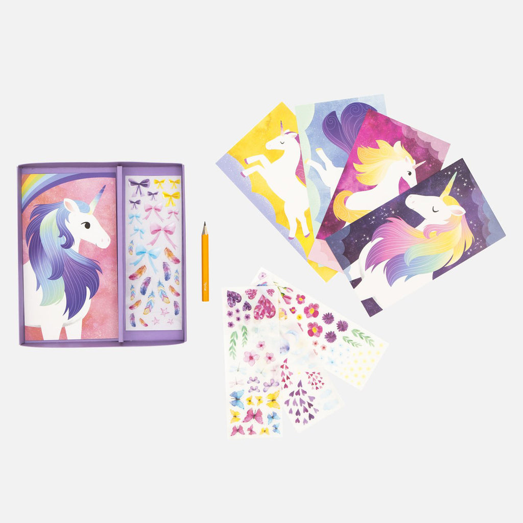 schylling tiger tribe transfer magic unicorns set kids diy craft kit box contents