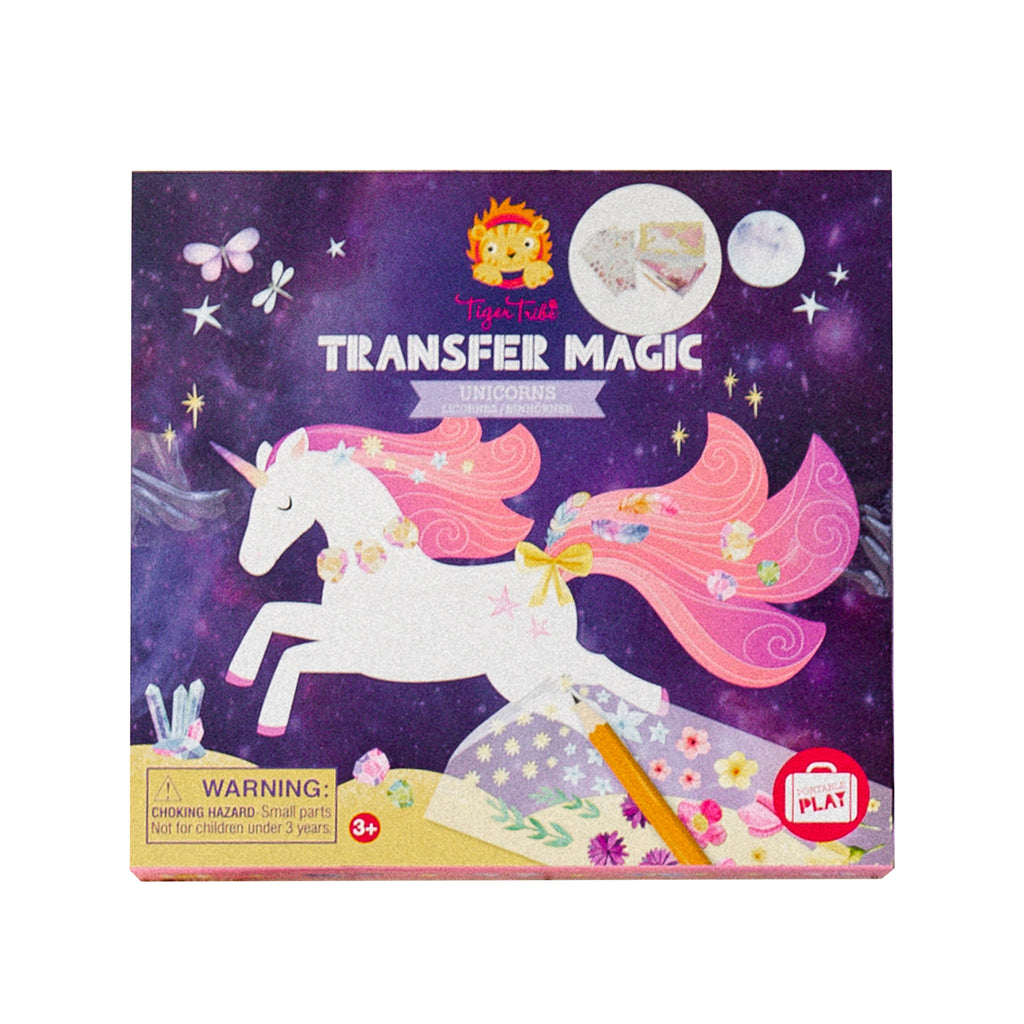 schylling tiger tribe transfer magic unicorns set kids diy craft kit box front