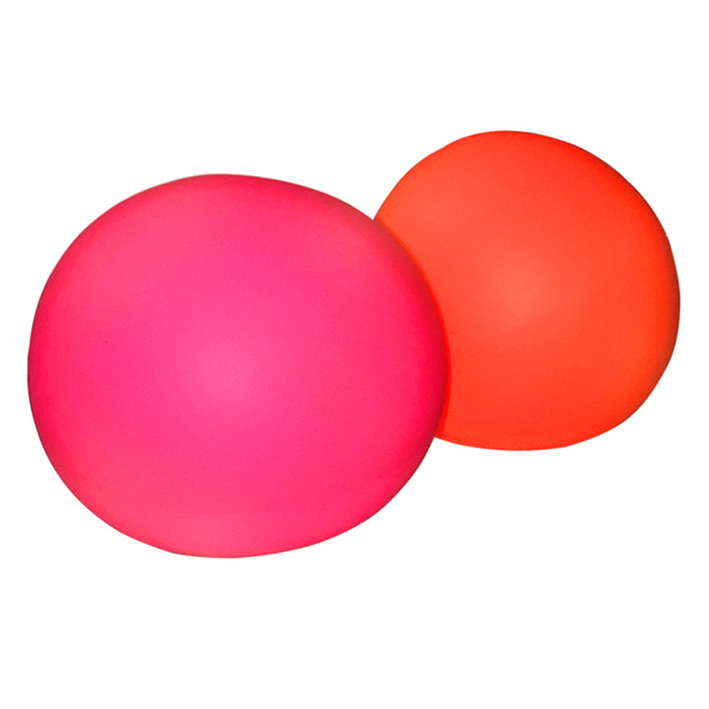 nee doh stress ball in pink and orange