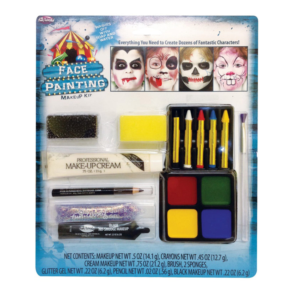 seasonal distribution face painting makeup costume kit halloween supplies in packaging