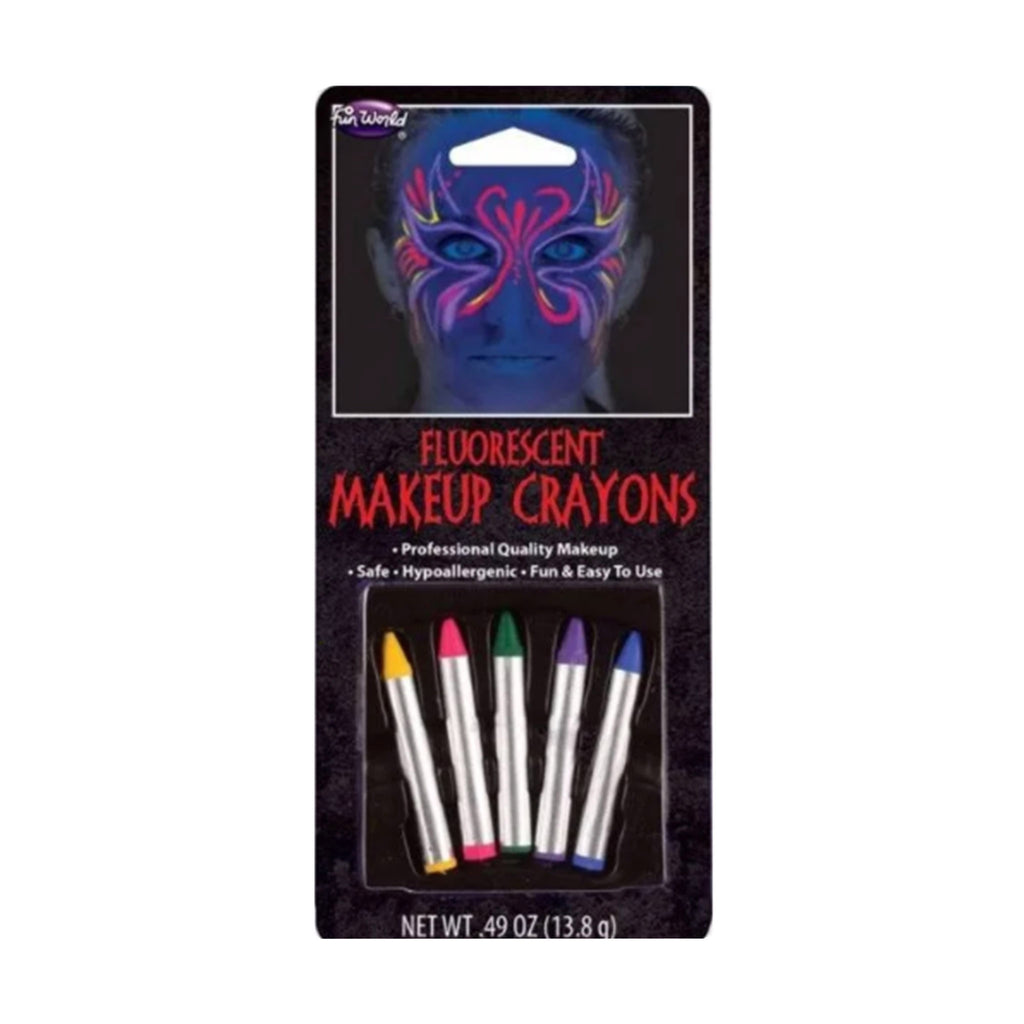 seasonal distribution fluorescent makeup crayons face paint costume kit halloween supplies in packaging