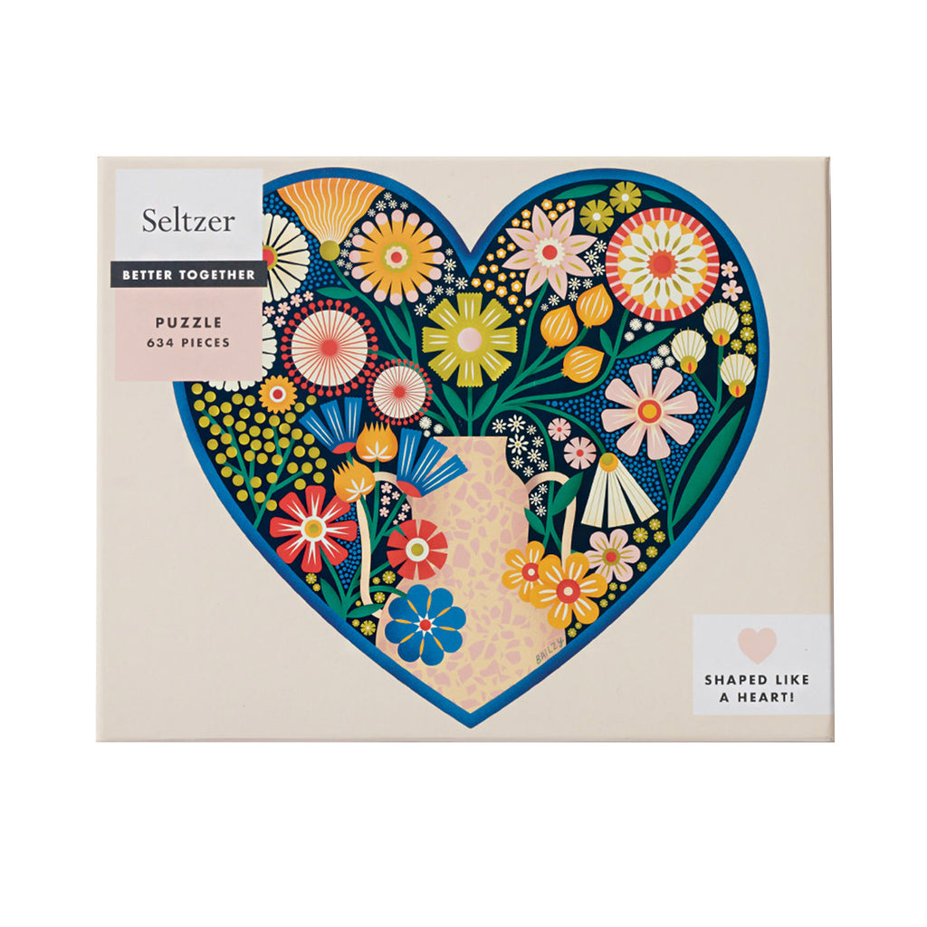 seltzer goods 634 piece better together heart bouquet family jigsaw puzzle box front