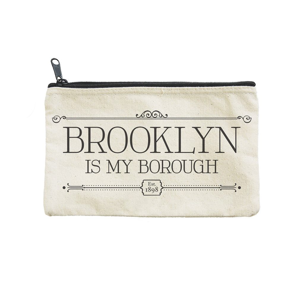 seltzer goods brooklyn is my borough canvas zipper pouch
