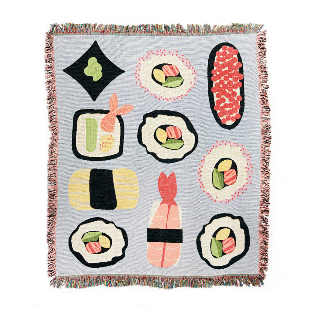 seltzer goods sushi roll throw blanket