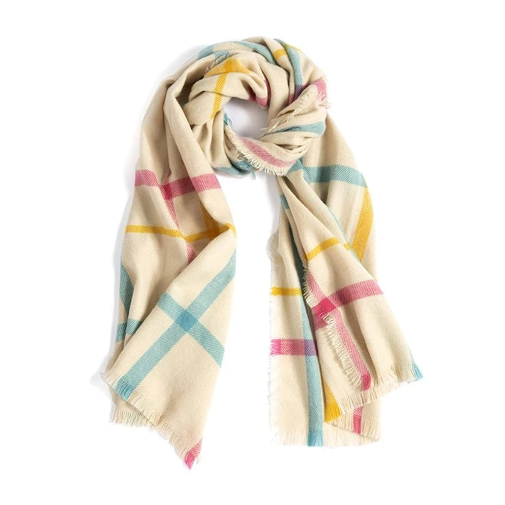 shiraleah martina multicolored winter scarf with fringe