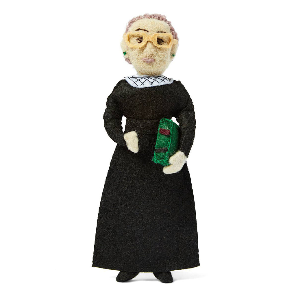 silk road bazaar rbg ruth bader ginsburg supreme court justice wool felt ornament