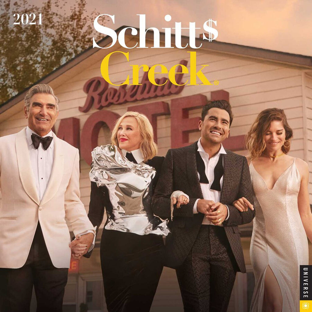 simon & schuster schitt's creek 2021 monthly wall calendar front cover