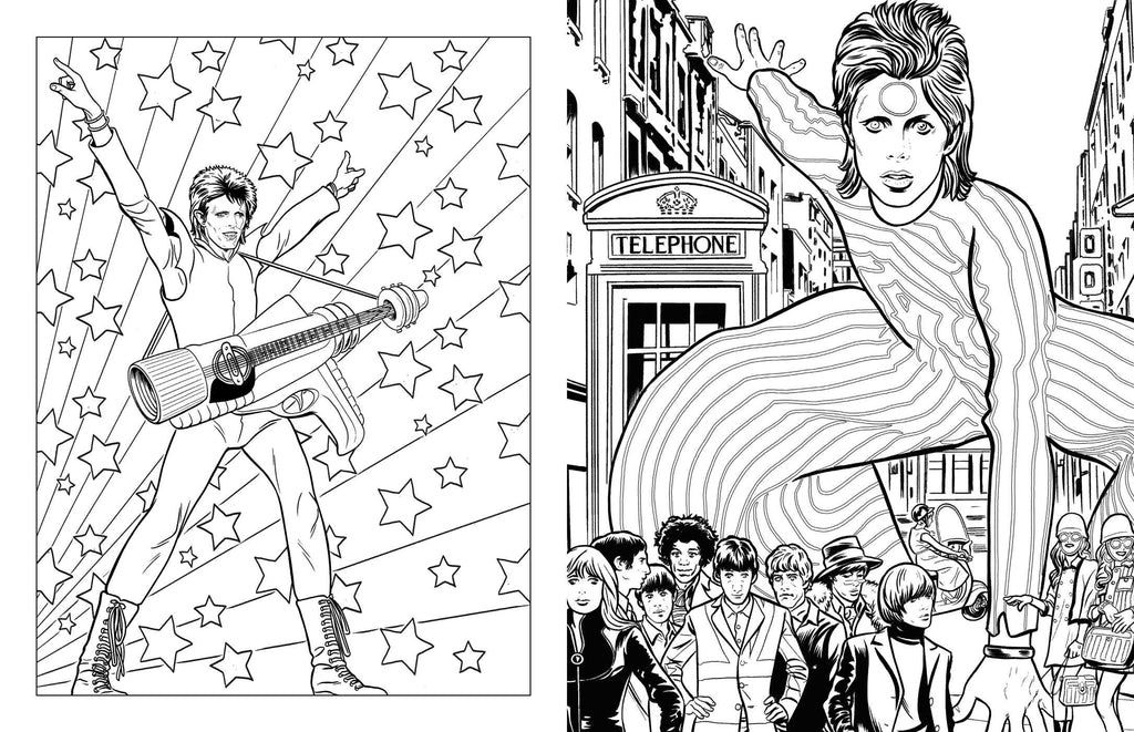 simon schuster bowie a michael allred coloring book