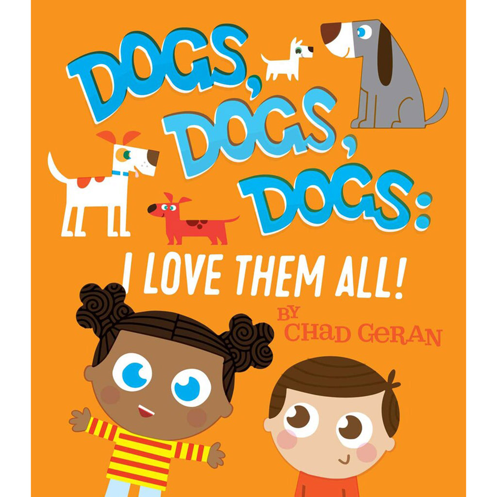 simon & schuster dogs, dogs, dogs: I love them all baby board book cover
