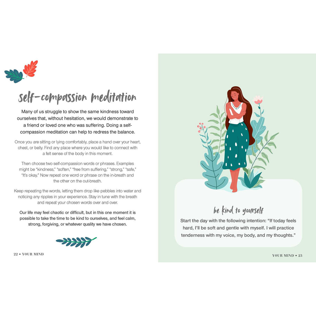 simon & schuster everyday self-care book self-compassion meditation sample page