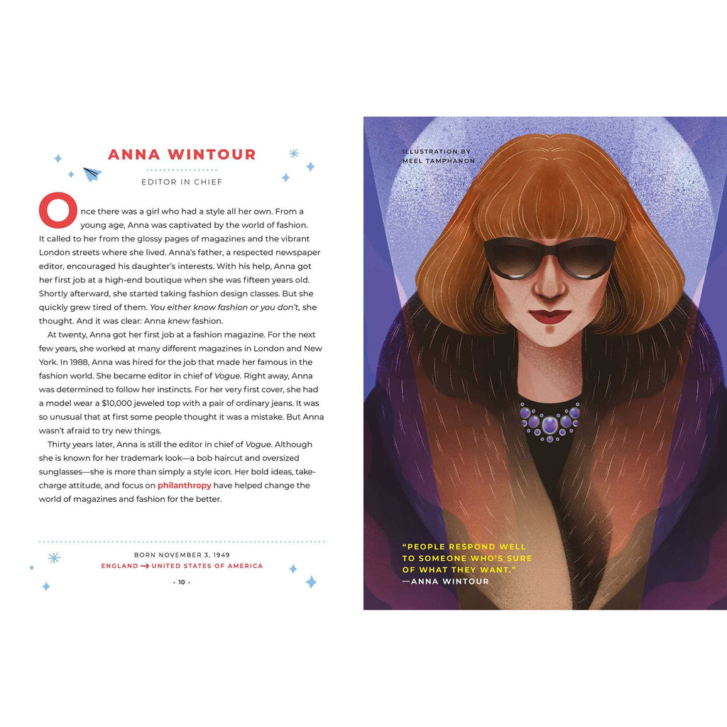 simon & schuster good night stories for rebel girls 100 immigrant women who changed the world by elena favilli book anna wintour sample page