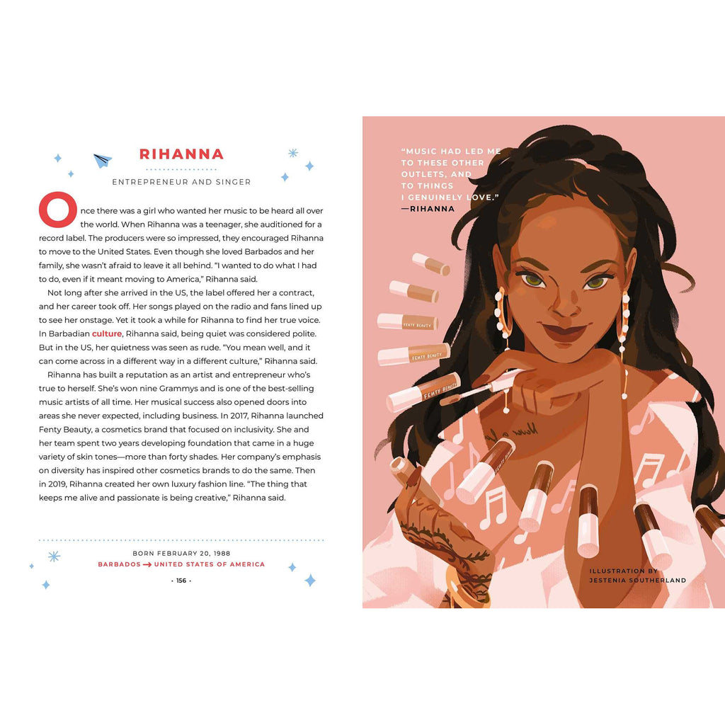 simon & schuster good night stories for rebel girls 100 immigrant women who changed the world by elena favilli book rihanna sample page