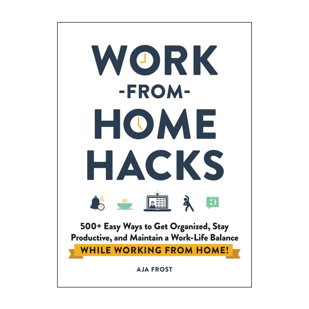 simon & schuster work from home hacks book cover