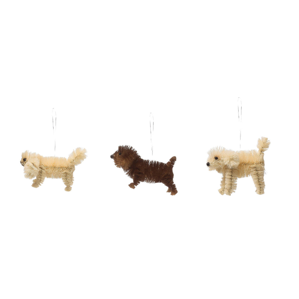 sisal dog ornament