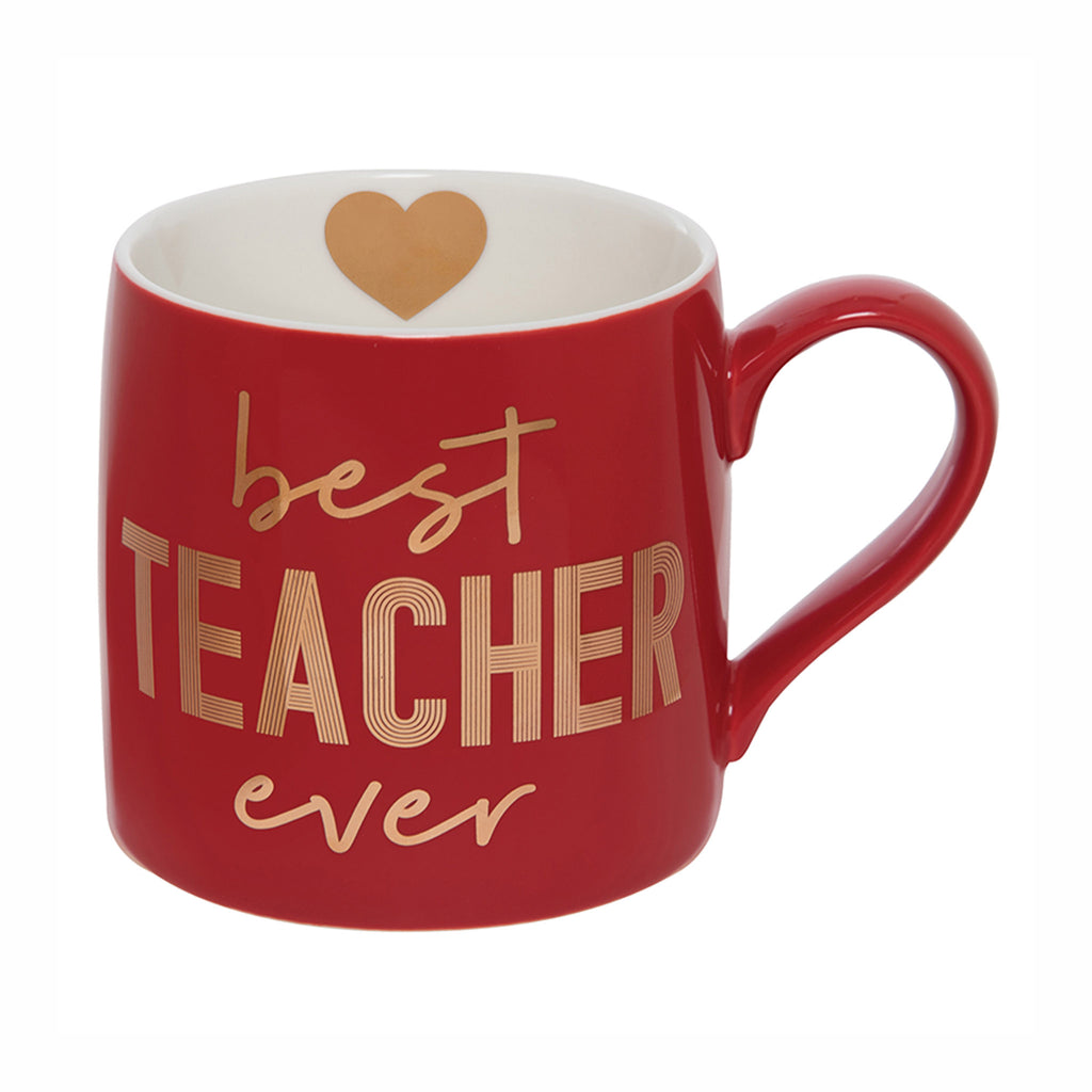 slant collections best teacher ever jumbo red ceramic coffee mug