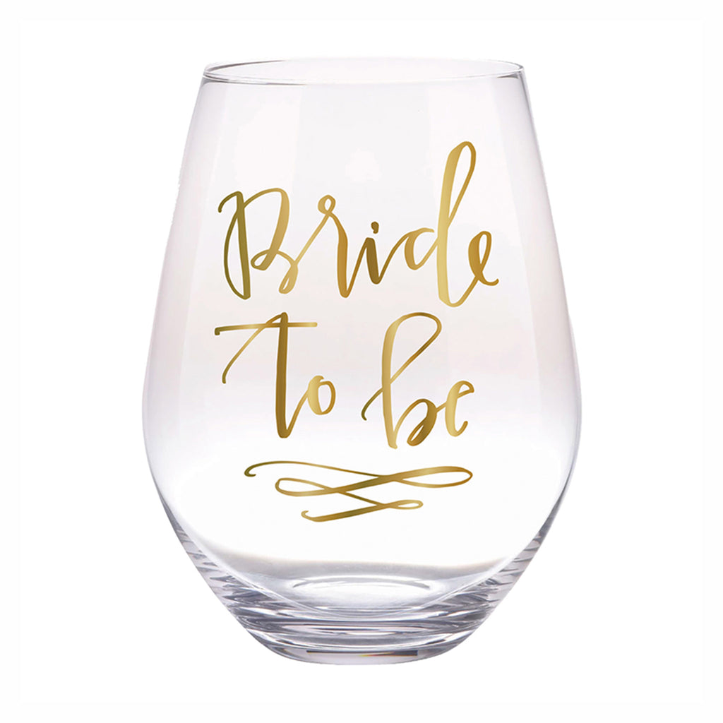 slant collections bride to be jumbo stemless wine glass
