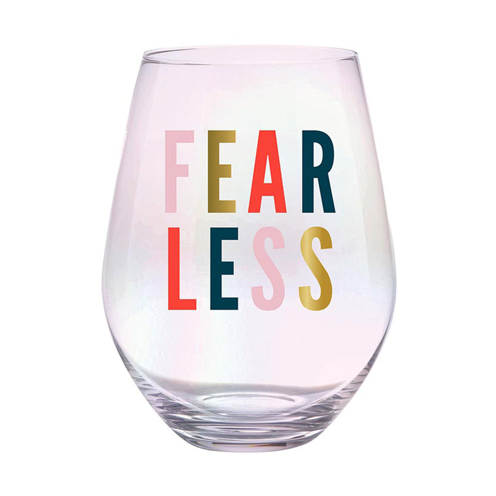 slant collections fearless 30 ounce iridescent finish jumbo stemless wine glass