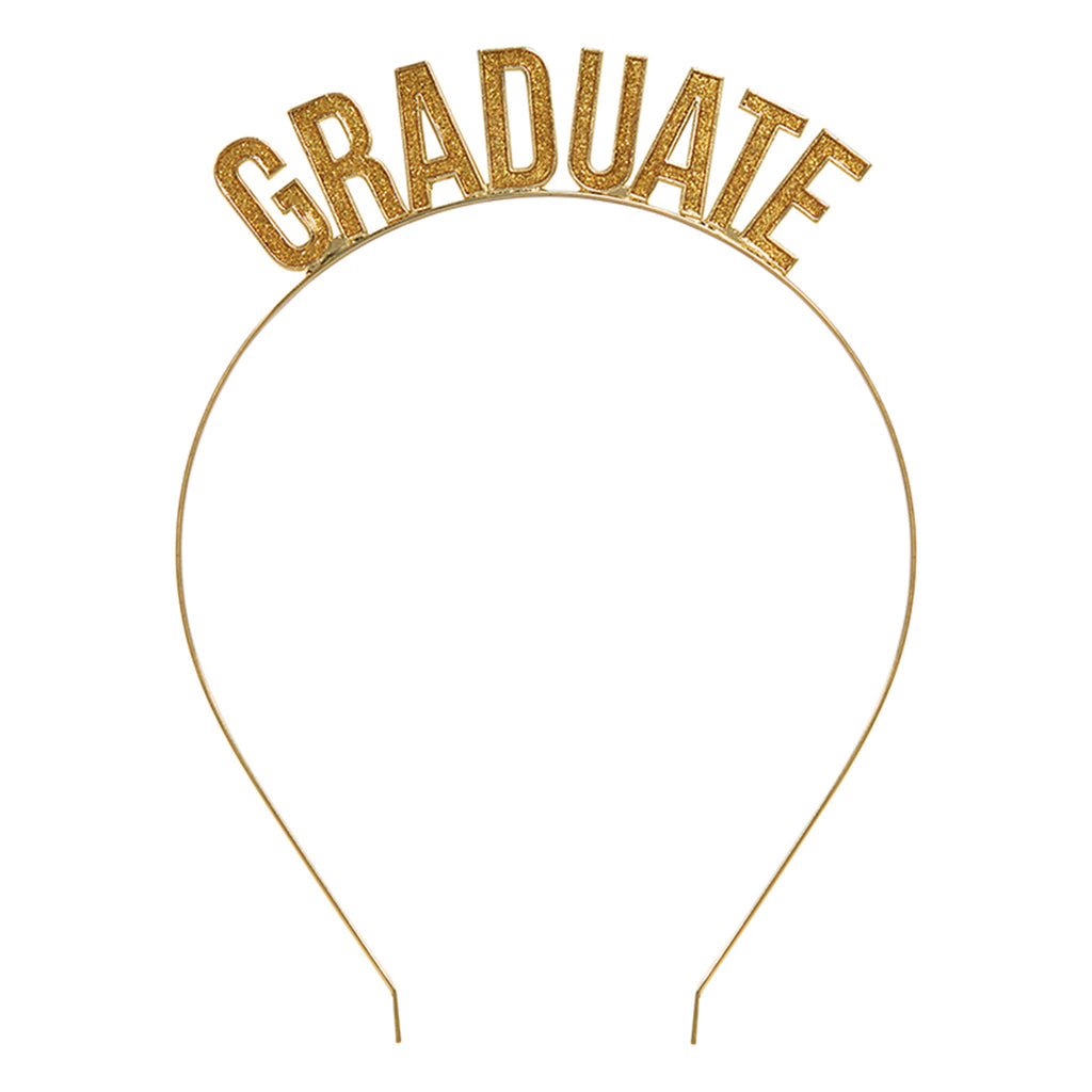 slant collections graduate sparkly gold glitter headband graduation gift