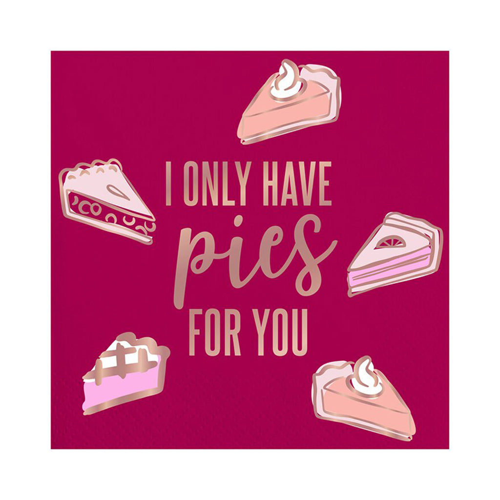 slant collections i only have pies for you square beverage paper napkins thanksgiving party supplies