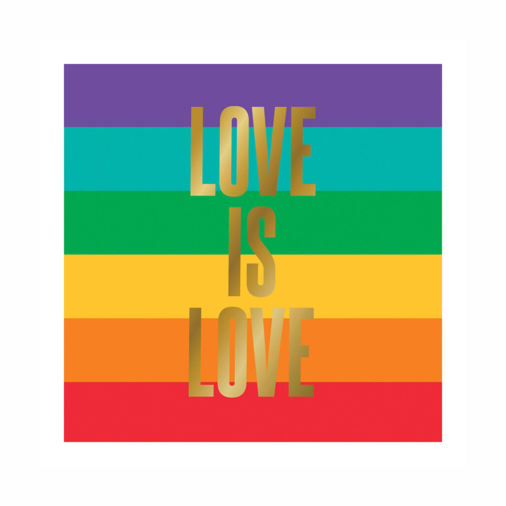 slant collections love is love pride rainbow stripe small paper beverage napkins