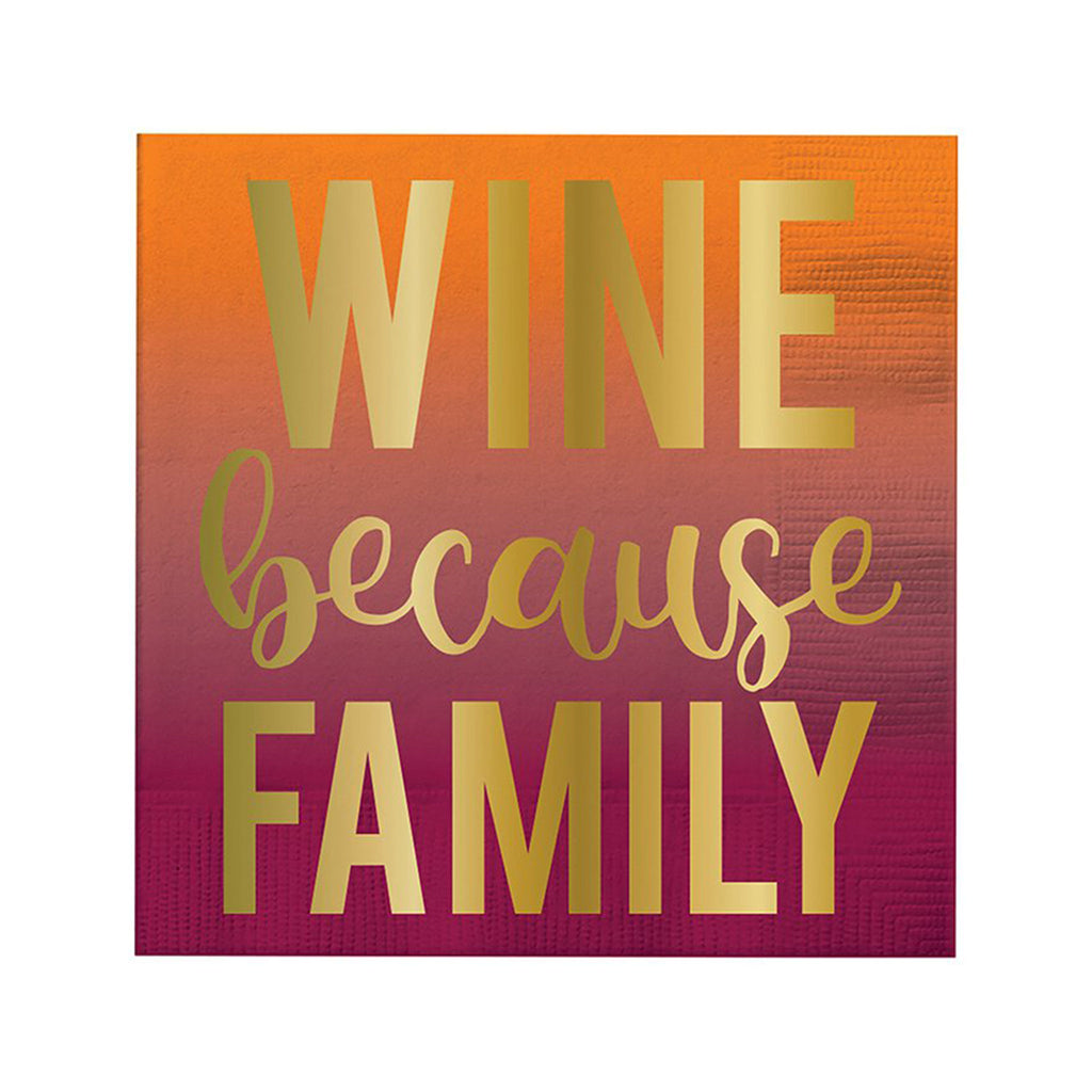 slant collections wine because family square beverage paper napkins thanksgiving party supplies