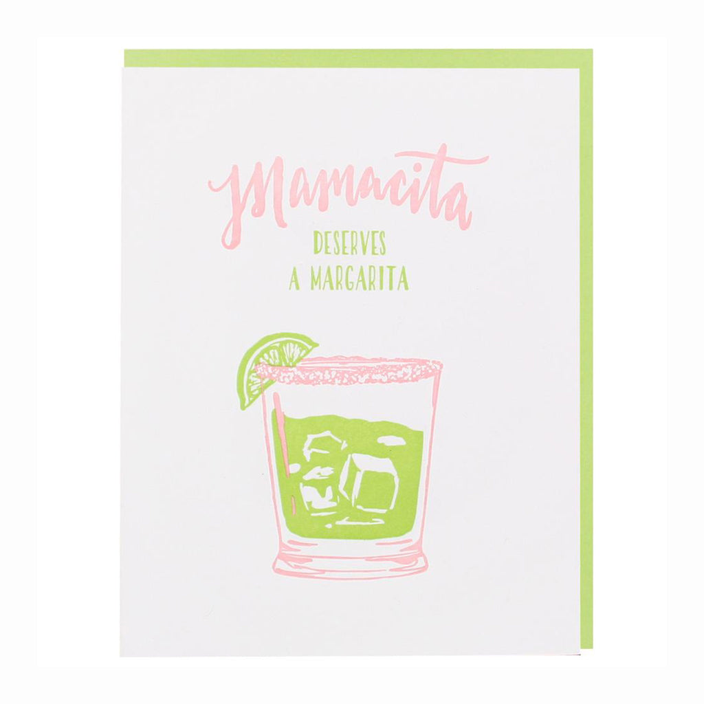 smudge ink mamacita deserves a margarita happy mothers day greeting card with envelope
