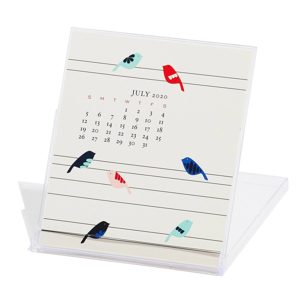 snow and graham 2020 monthly desk calendar july in stand
