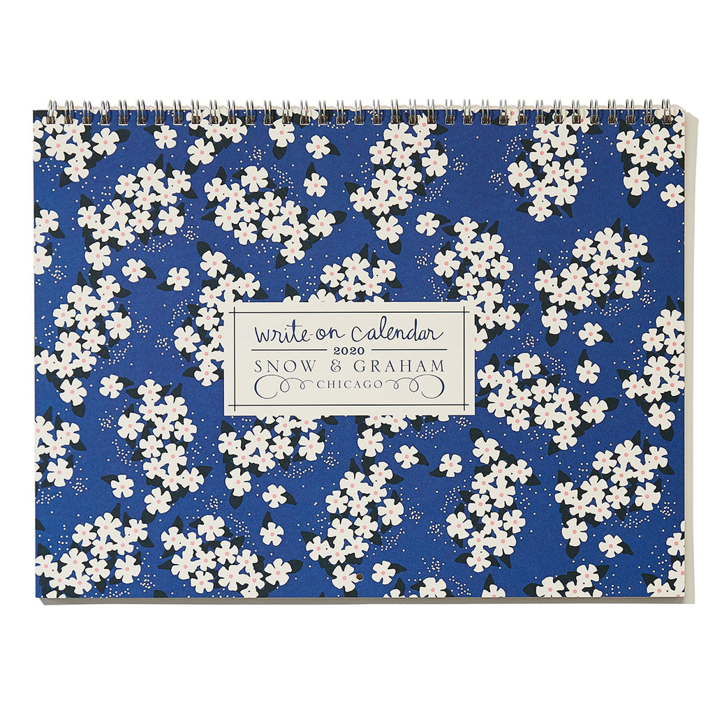 snow & graham 2020 write on monthly wall calendar floral print cover
