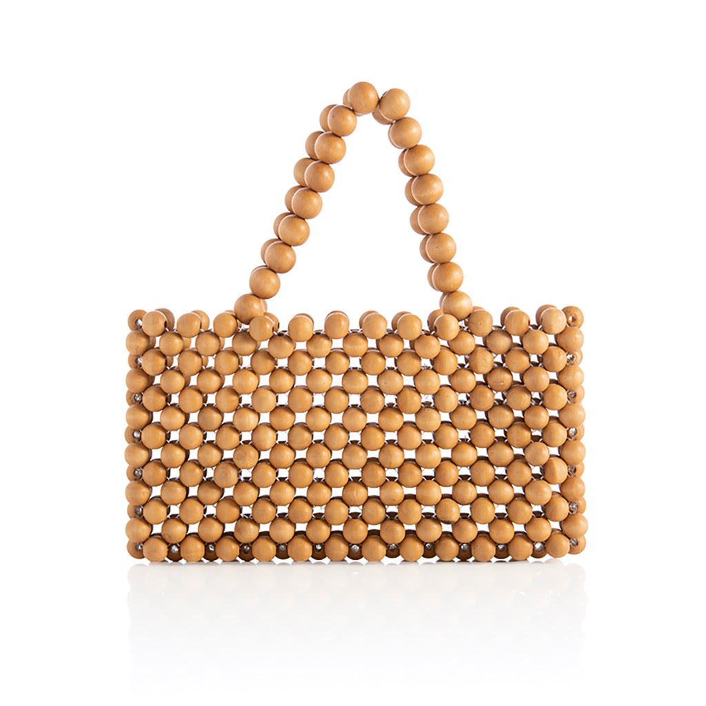 sol beaded mini tote
