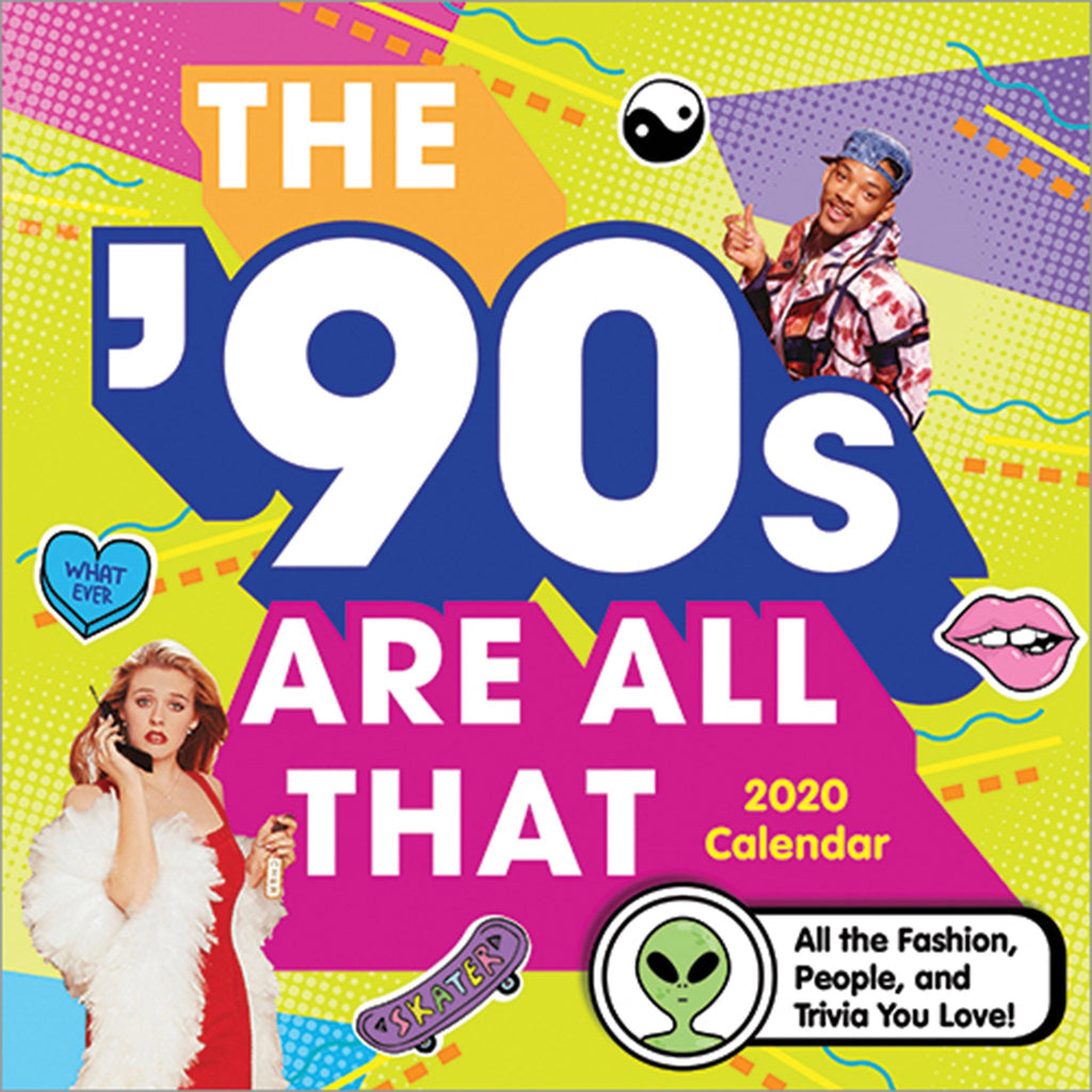 sourcebooks 2020 the 90s are all that monthly wall calendar cover