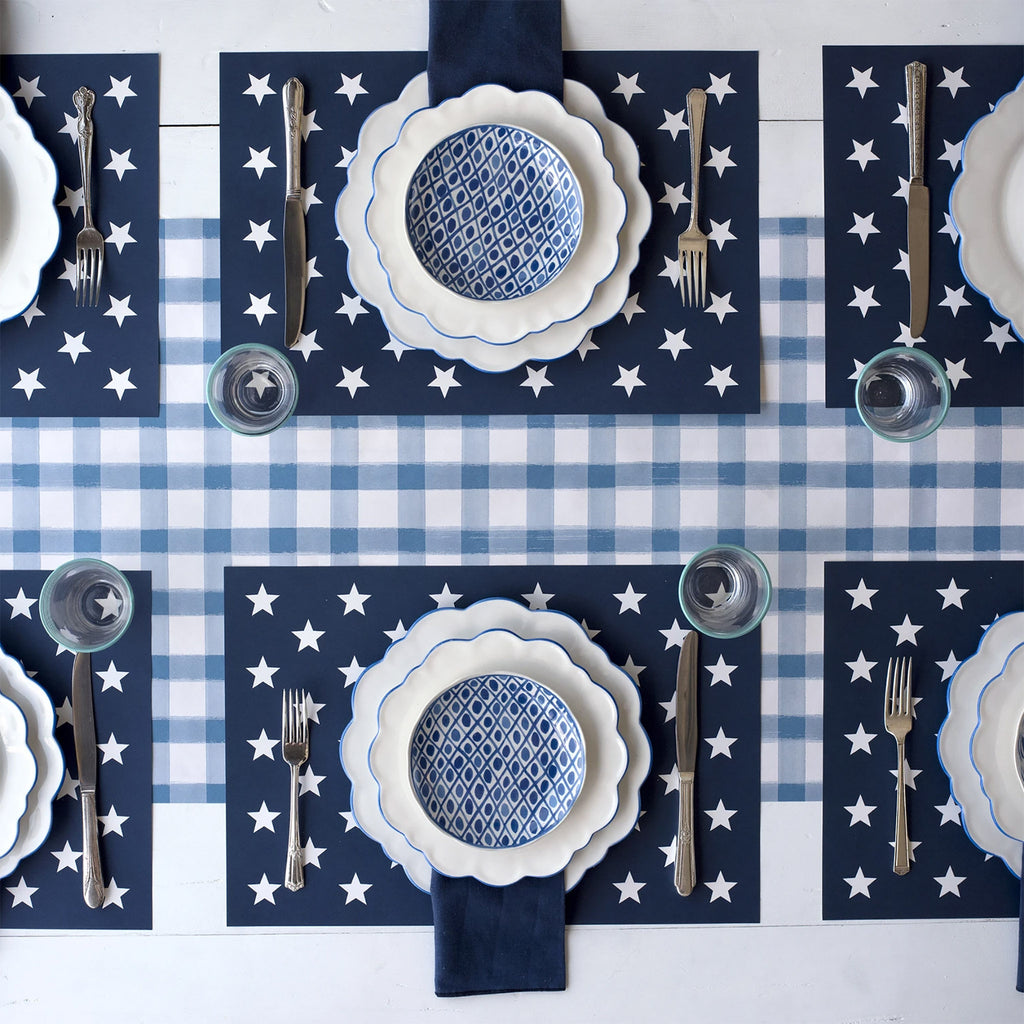 Stars on Navy Placemats