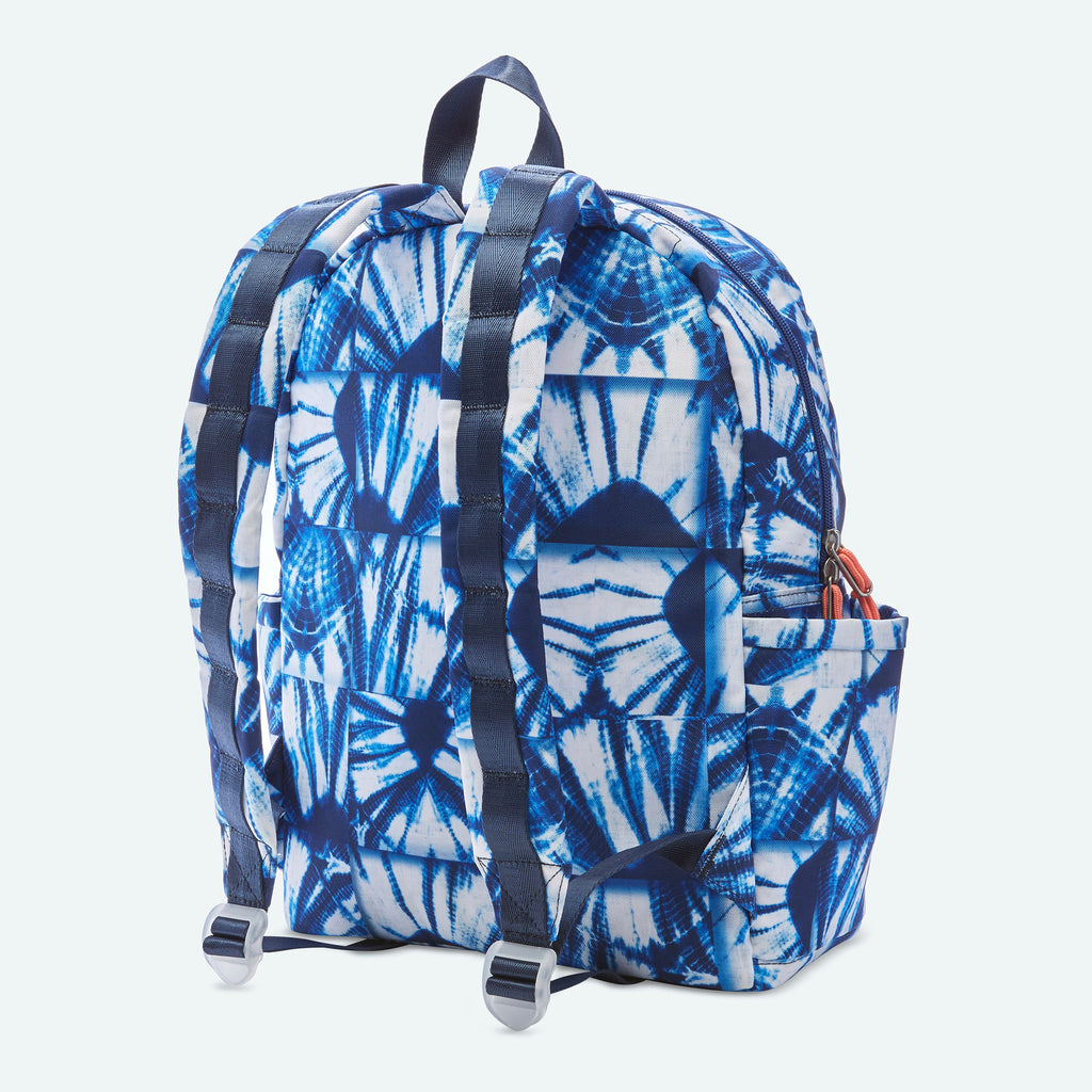 State Bags Kane Backpack in Indigo Patchwork