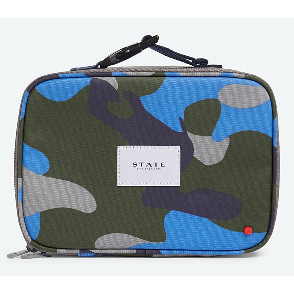 state bags rodgers lunch box in coated camo